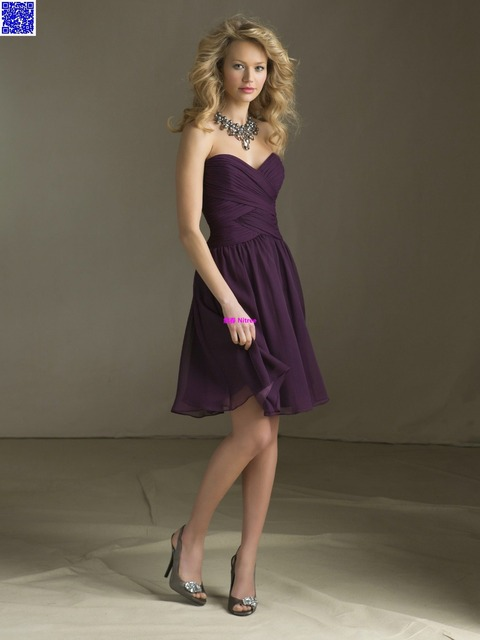 Nitree Cheap Short Purple Bridesmaid dress Party Gown Fashion Collection  Unique Sexy Luxury Designer Celebrity Romantic Spring 189d316a0790