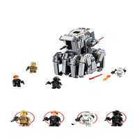 BELA 10899 Star Wars First Order Heavy Scout Walker Building Blocks Brick Compatible Technic 75177 Playmobil Toys