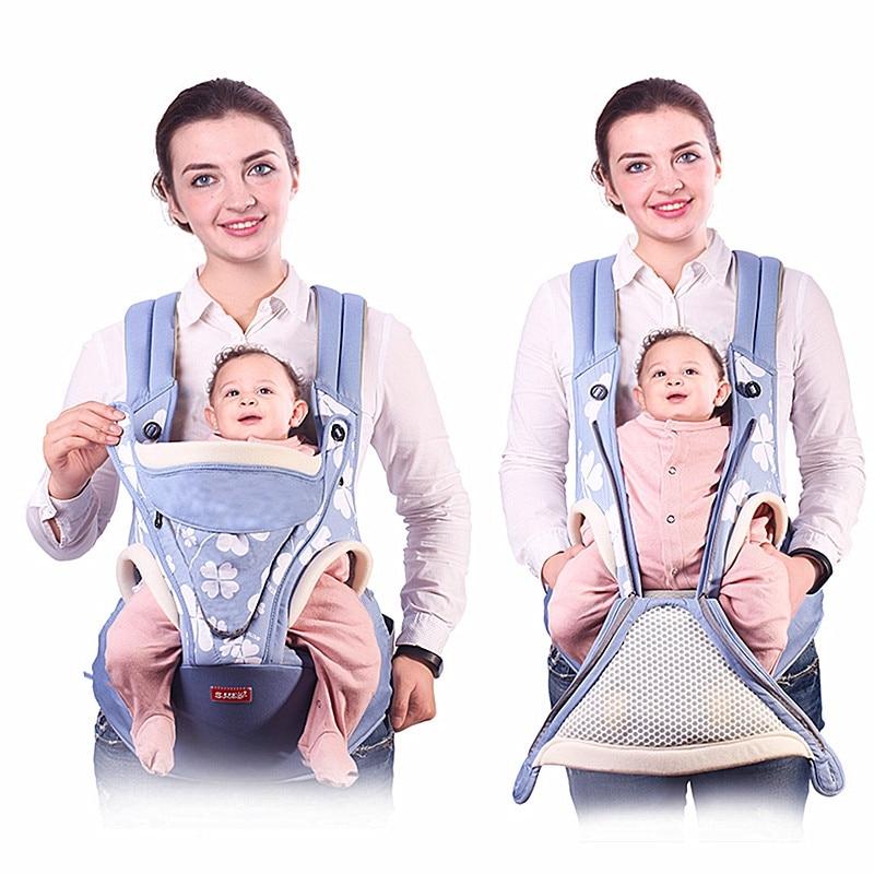 Ergonomic Baby Carrier Backpack Breathable Front Facing Baby Carrier Sling Mochila Infantil Hipseat Carrier Kangaroo Baby Bag 8 in 1 ergonomic baby carrier sling 2017 breathable baby kangaroo hipseat backpacks carriers removeable backpack sling