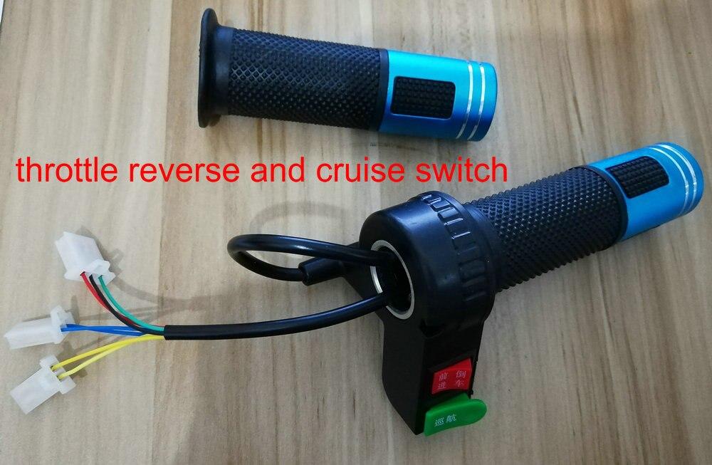 Twist papillon avec avant/arrière interrupteur & cruise commutateur bouton gaz poignée électrique scooter tricycle vélo VTT partie accélérateur
