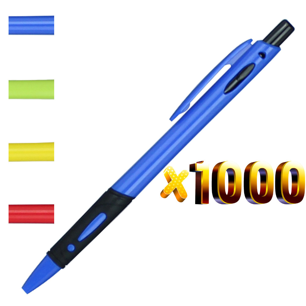 lot 1000pcs Plastic Cheap Ball Pen,Rubber Grasp,Free Shipping,Free Logo Print,wholesale fashion new customized promotional gift-in Banner Pens from Office & School Supplies