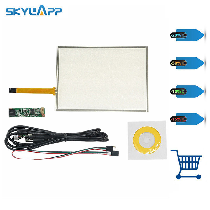 Skylarpu 8 Inch 4 Wire Resistive Touch Screen Panel USB Controller for AUO A080SN01 LCD Screen touch panel Glass Free shipping new 9 inch 4 wire resistive touch screen panel digitizer usb 211 126mm screen touch panel glass free shipping