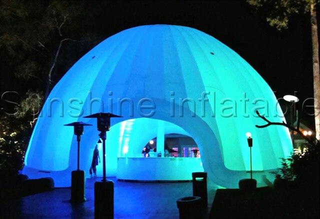grote led wit lunar lounge opblaasbare koepel tent outdoor opblaasbare iglo tent met achterklep. Black Bedroom Furniture Sets. Home Design Ideas