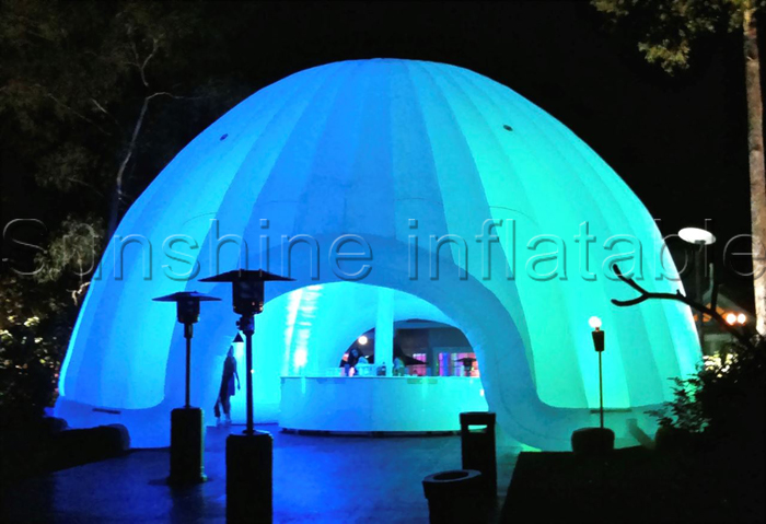 Large led white lunar lounge Inflatable dome tent outdoor inflatable igloo tent with tailgate for events & Large led white lunar lounge Inflatable dome tent outdoor ...