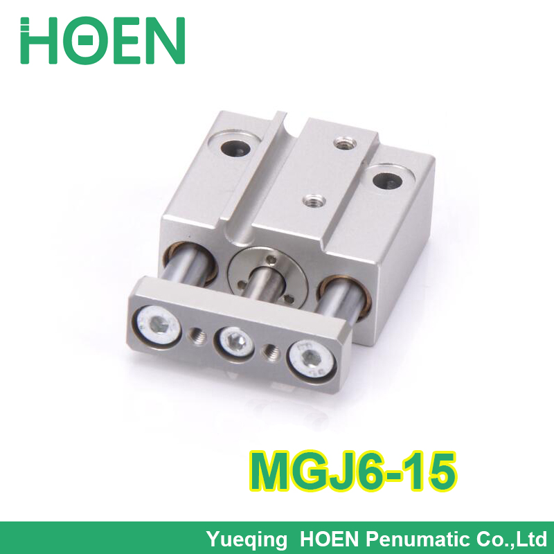 MGJ6-15  6mm bore 15mm stroke guide Rod pneumatic cylinder mgj6*15 Mini 3 rod pneumatic cylinderMGJ6-15  6mm bore 15mm stroke guide Rod pneumatic cylinder mgj6*15 Mini 3 rod pneumatic cylinder