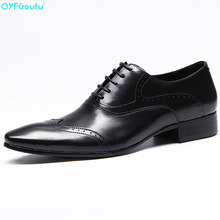 Brand Men Business Mens Pointy Shoes British Dress Office Formal Shoes Men Luxury Fashion Genuine Leather Brogue Shoes mycolen luxury leather brogue mens lace up handmade flats shoes british style men fashion men shoes brand dress shoes for men