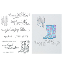 Buy boots letter and get free shipping on aliexpress rain boots letters clear stamps for scrapbooking diy maxwellsz