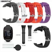 Correia de pulseira de silicone, correia de relógio inteligente de troca para polar m400 m430 gps, esporte, relógio inteligente