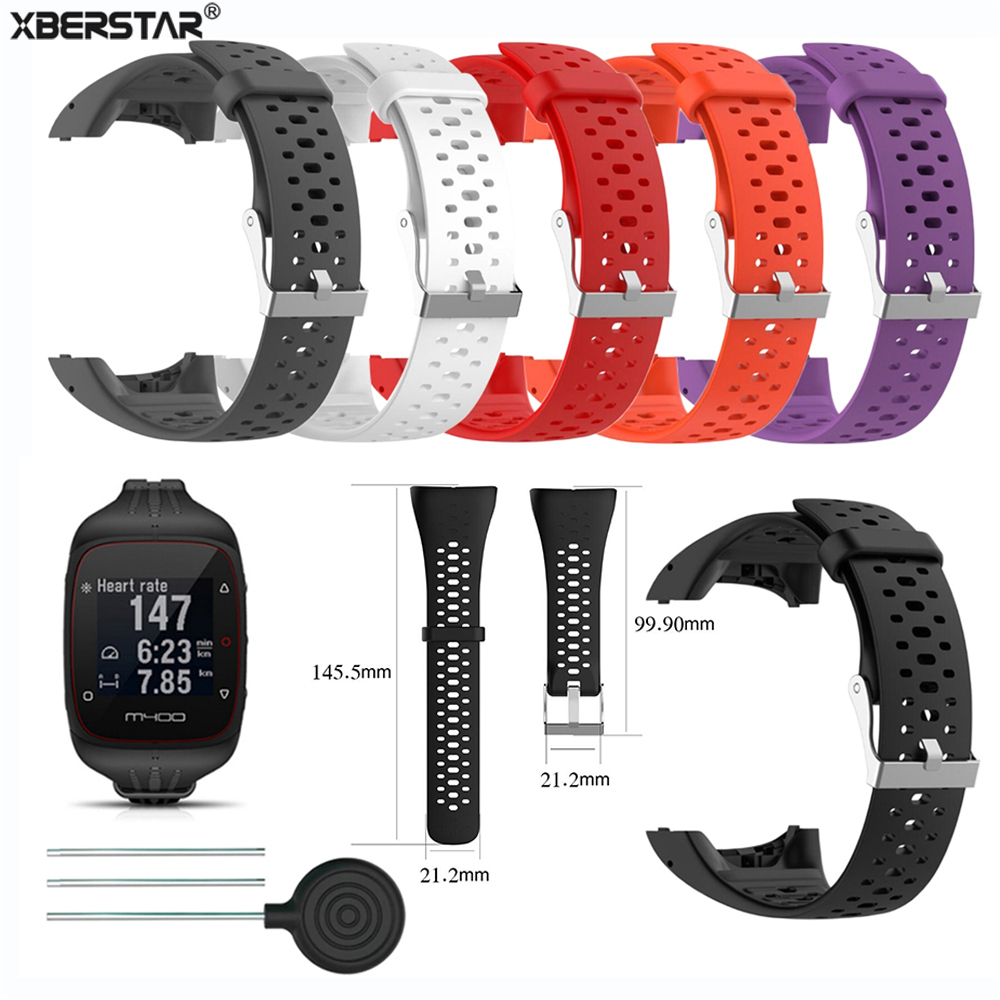 Silicone Wristband Strap for <font><b>Polar</b></font> M400 <font><b>M430</b></font> GPS Sports Smart Watch Replacement Watchband Bracelet Watch Strap Band image