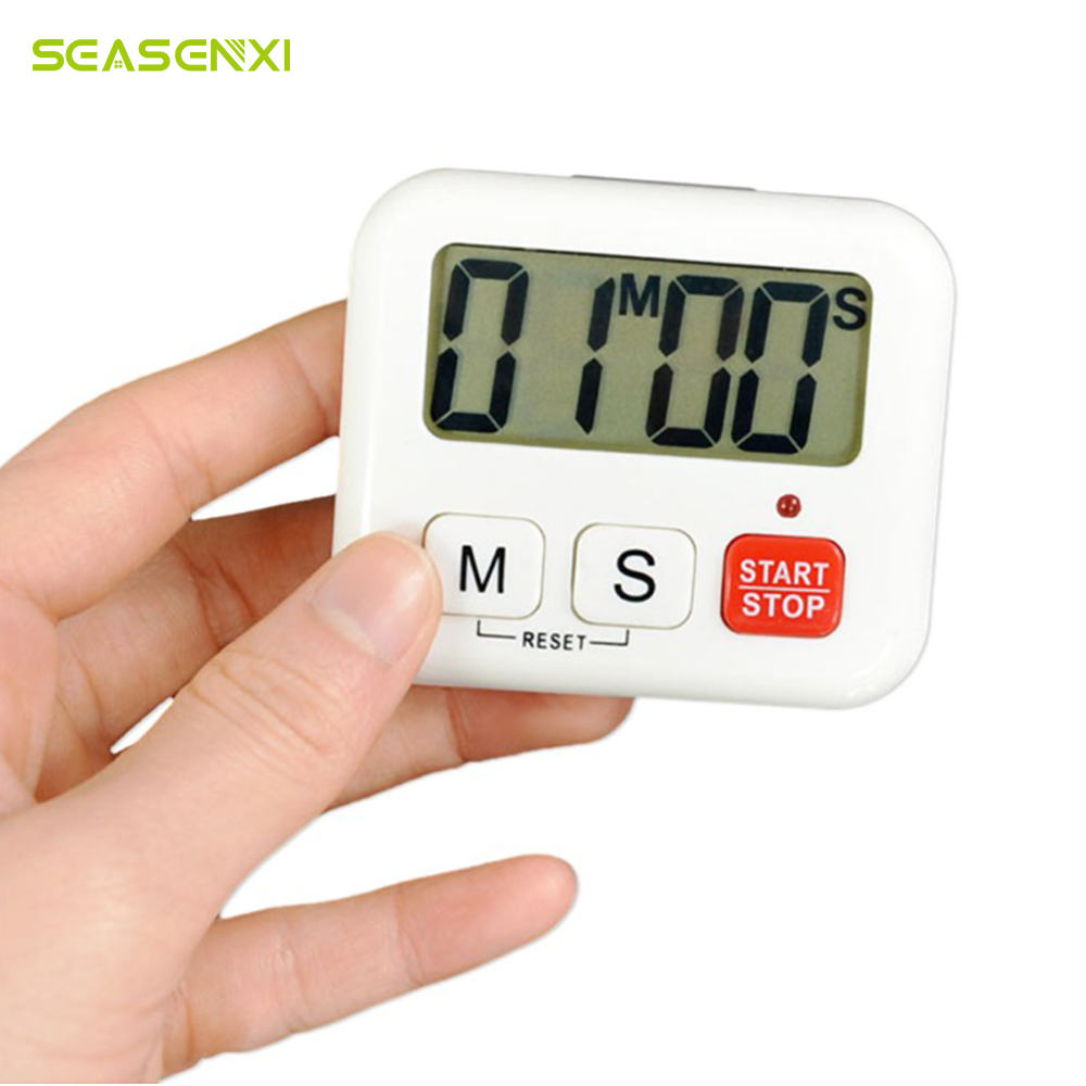 SEASENXI Kitchen Timer Digital LCD Clock Cooking Timer Sport Count-douw Up Clock ALARM Reminder kitchen timer mechanical