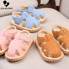 Chivry New 2019 Summer Kids Soft Cute Cartoon Toddler Boys Girls Sandals Sport Infant Baby First Walk Shoes Beach