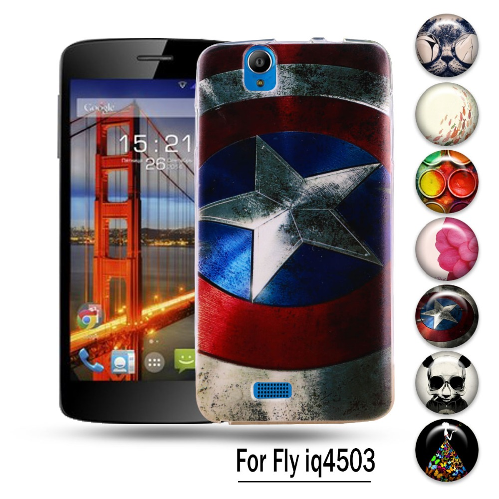 AKABEILA Silicon Cases For Fly IQ4503 quad Era Life 6 IQ 4503 life6 Phone Cover Anti-knock Protective Shell S