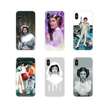 Star Wars Princess Leia Pretty For Sony Xperia Z Z1 Z2 Z3 Z5 compact M2 M4 M5 C4 E3 T3 XA Huawei Mate 7 8 Y3II Phone Shell Cases(China)