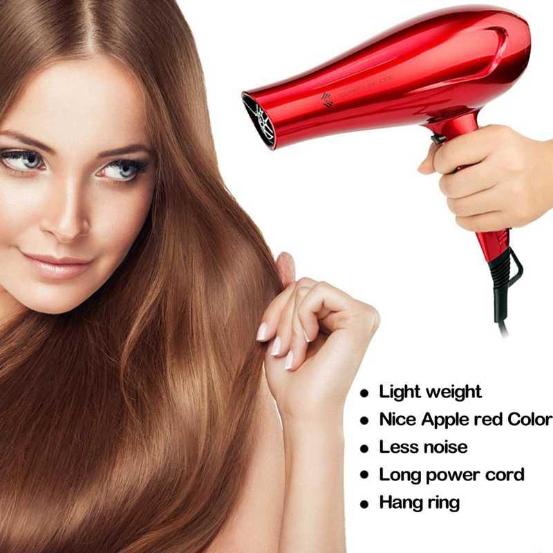 Jinri 1875 Вт турмалиновый фен для волос салон отрицательный ионный фен с концентратором Легкий Низкий уровень шума двигатель постоянного тока быстрая сушка Ha