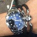 High Quality Luxury Bracelet For Watch 925 Silver Jewelry Classic Black Stingray Skeleton Bracelet The Best Christmas Present