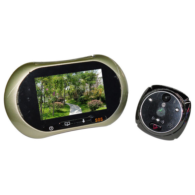 Support SOS Sim Card Take Photo and Video Peephole Viewer Video Door Phone with Alarm Function