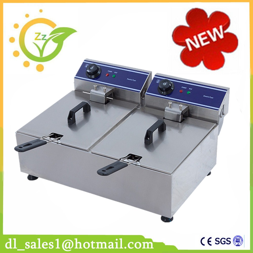 Electric Deep Fryer Multifunctional Household Commercial Single Double Cylinder 3000W Electric Fryer French Fries Machine thick single cylinder electric fryer commercial electric fryer fried chicken oven fries fried squid machine dedicated