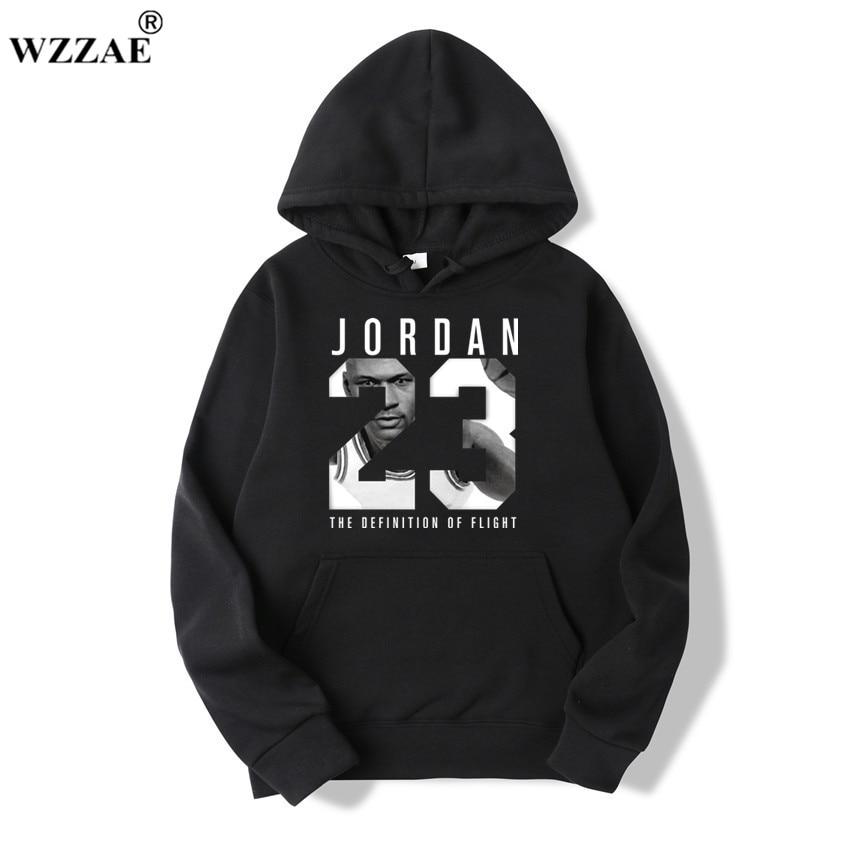 WZZAE 2019 Brand  New Fashion JORDA 23 Men Sportswear Print Men Hoodies Pullover Hip Hop Mens tracksuit Sweatshirts Clothing