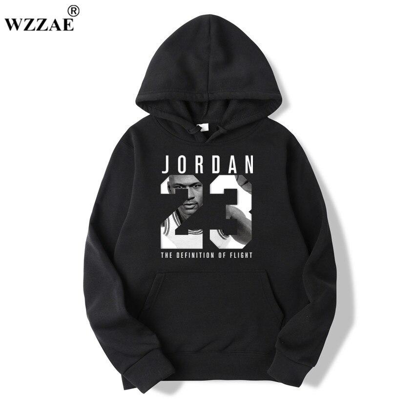 WZZAE 2019 Brand New Fashion JORDA 23 mężczyźni odzież sportowa drukuj mężczyźni swetry sweter Hip Hop męskie dresy bluzy odzież
