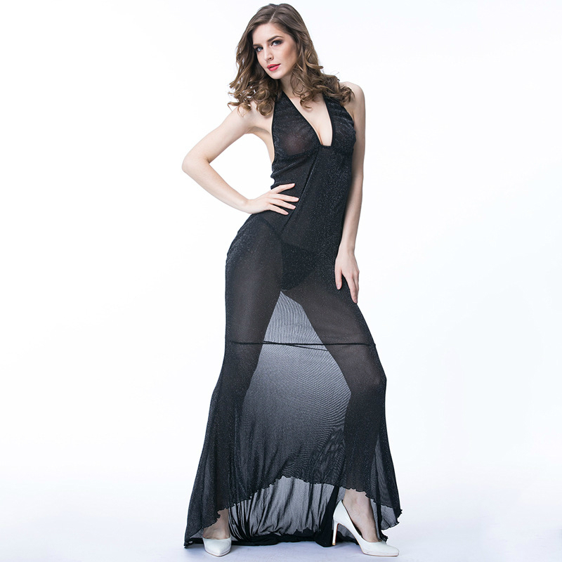 Formal Gown Sexy - New Sexy Lingerie Hot Erotic Womans Porn Underwear Backless Long Pencil  dress Homewear Robe Set with T back JW-in Babydolls & Chemises from Novelty  ...