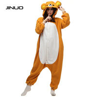 JINUO Panda Teddy Care Bear Pajamas Costume Women Footed Polar Jumpsuit Bear Onesie Suit Pajamas Adult Pajamas