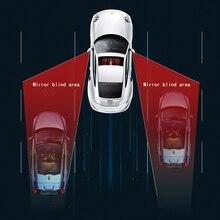 Автомобиль слепое пятно зеркало радар обнаружения системы BSD BSA BSM свч датчик слепой точки Видимый мониторинг парковки помощник
