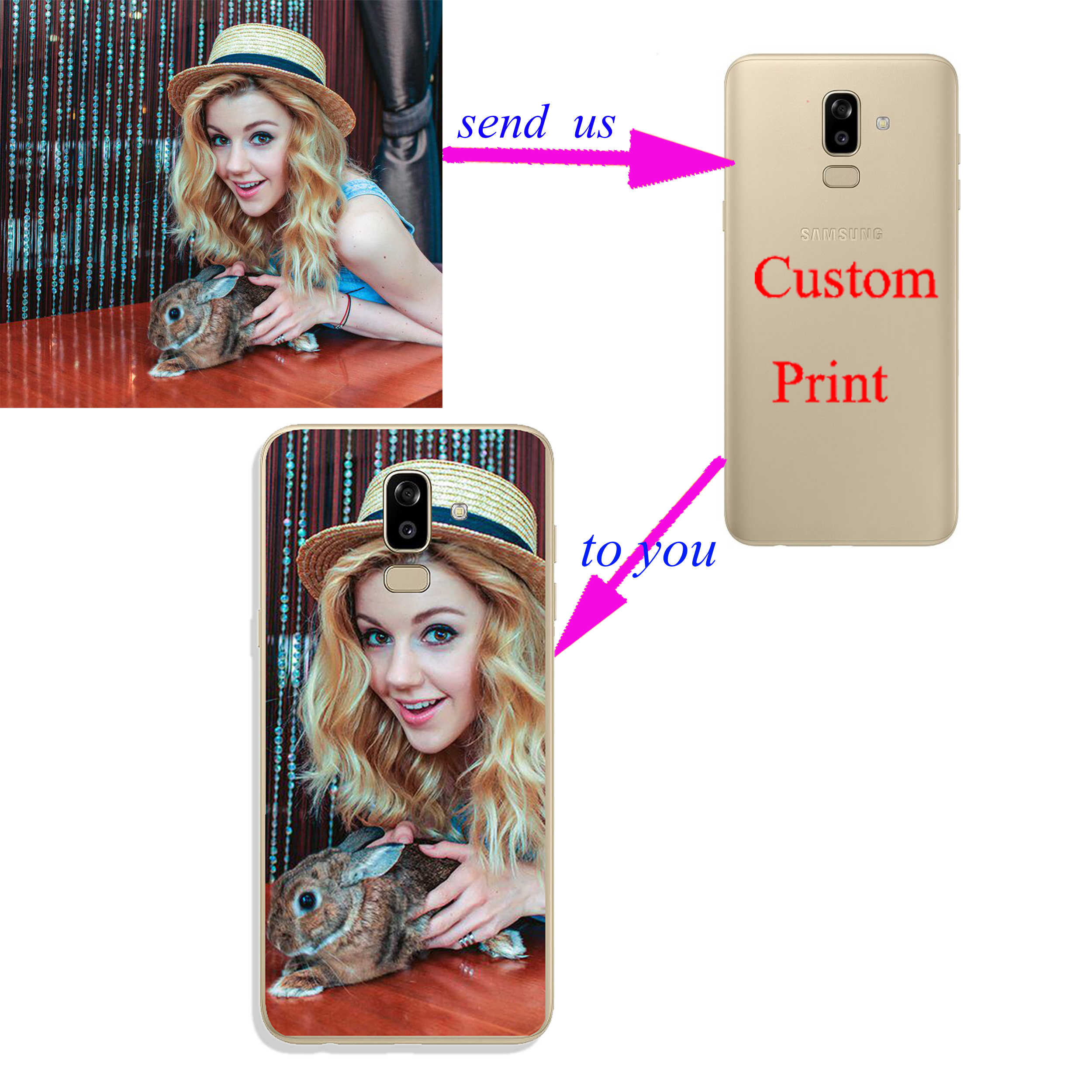 DIY Pattern images Customer Custom Photo tpu Soft Silicone Phone Case For  Samsung J7 J8 2018 J3 J5 2017 J4 J6