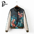 DayLook Autumn Tready Street Floral Bomber Jacket Tiger Embroidered Pocket Button Up Women Coat  Plus Size S-L Jaqueta Chaquetas