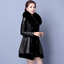 Women'S Winter Jackets Thicken Faux Fur Collar Womens Winter Jackets And Coats Slim Fit Leather Coat Winter Parka Wt91353