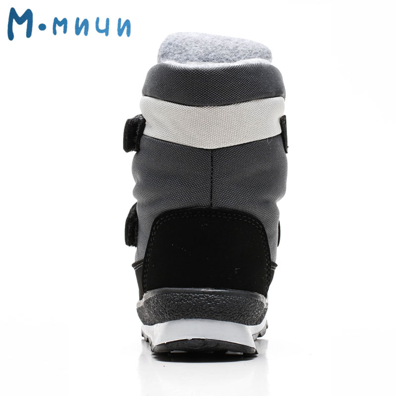Image 4 - MMNUN 2018 Russian Designer Winter Boots For Boys Warm Children's Winter Shoes For Boys Anti slip Snow Boots Size 26 37 ML9114-in Boots from Mother & Kids