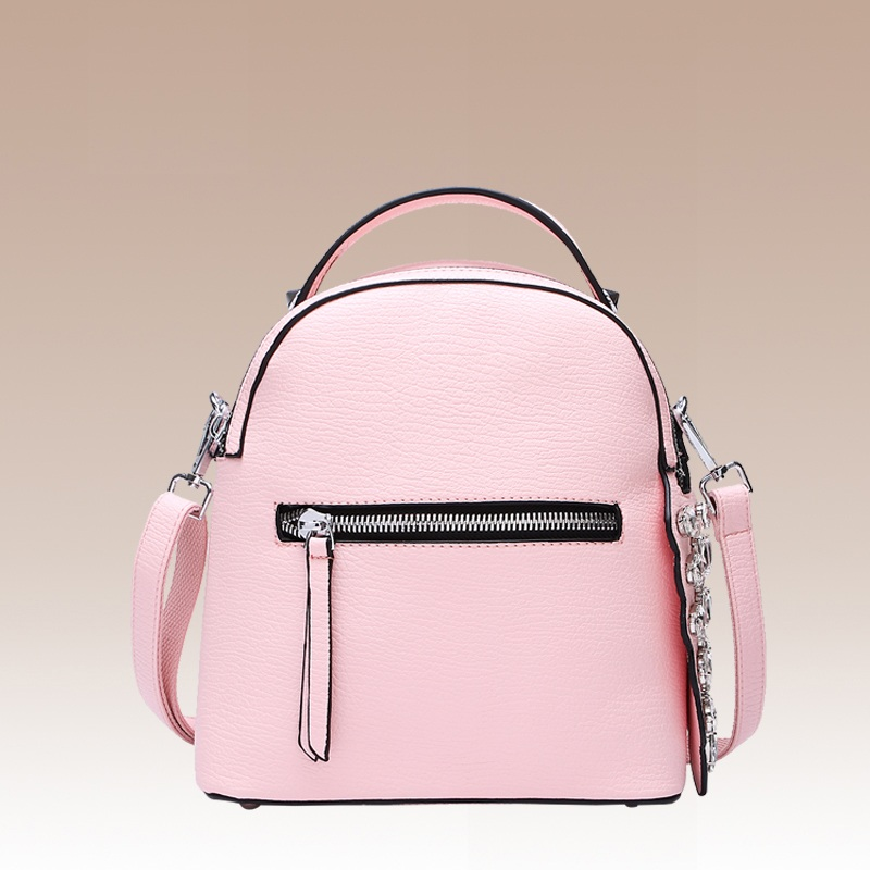 Student Diamonds Candy Color PU Leather Backpack Preppy Style Rucksac For Teenage Girl Fashion Mini School