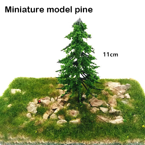 Simulation Model Tree Miniature Pine Vegetation Train Railway Tree Model Military Scene DIY Material Tree 2pcs Scenario Model
