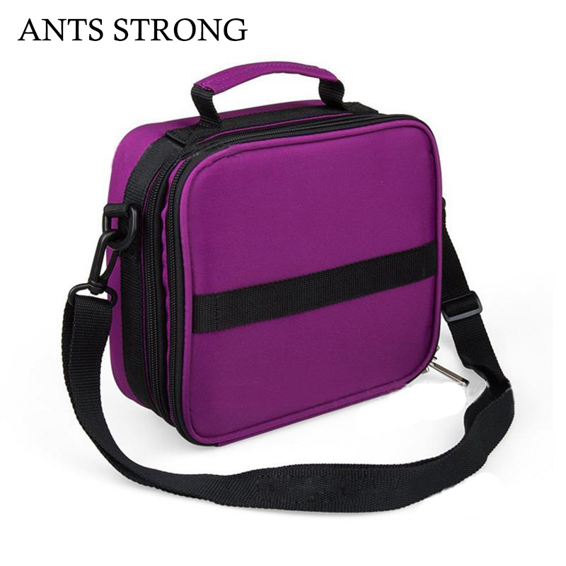 ANTS STRONG 42 grids shockproof cosmetic bag/double layer lipstick nail polish essential oil storage bag reza kamyab moghadas optimization of double layer grids