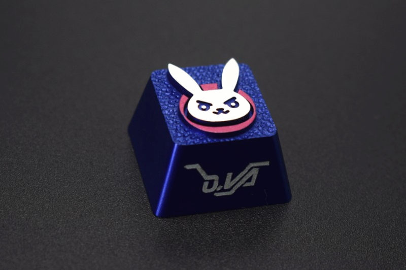 R4 Keycaps Aluminum Metal Tribe DVA for Mechanical Gaming Keyboard Overwatch
