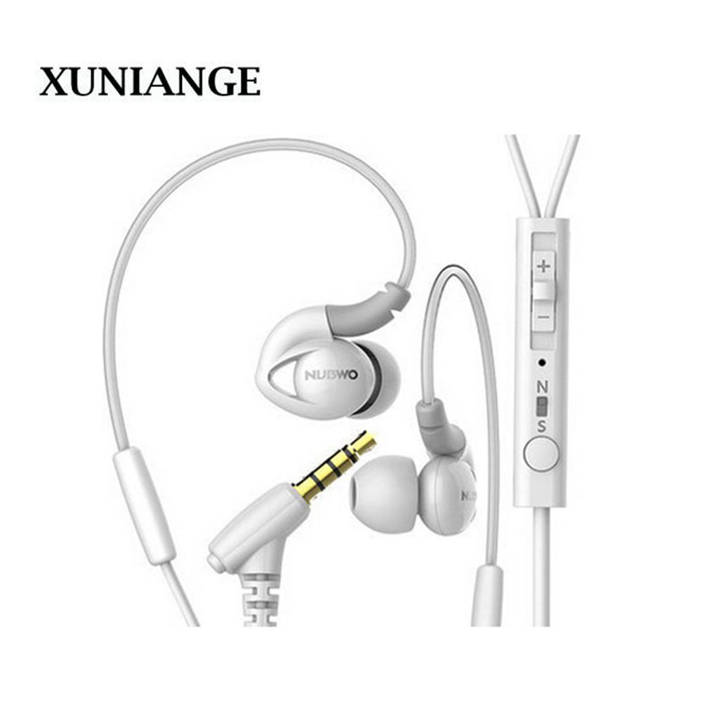 XUNIANGE 3,5mm In-ohr WEI s Ohrhörer Kopfhörer Stereo Super Bass Headset mit MIKROFON für iPhone Samsung Handys MP3 MP4