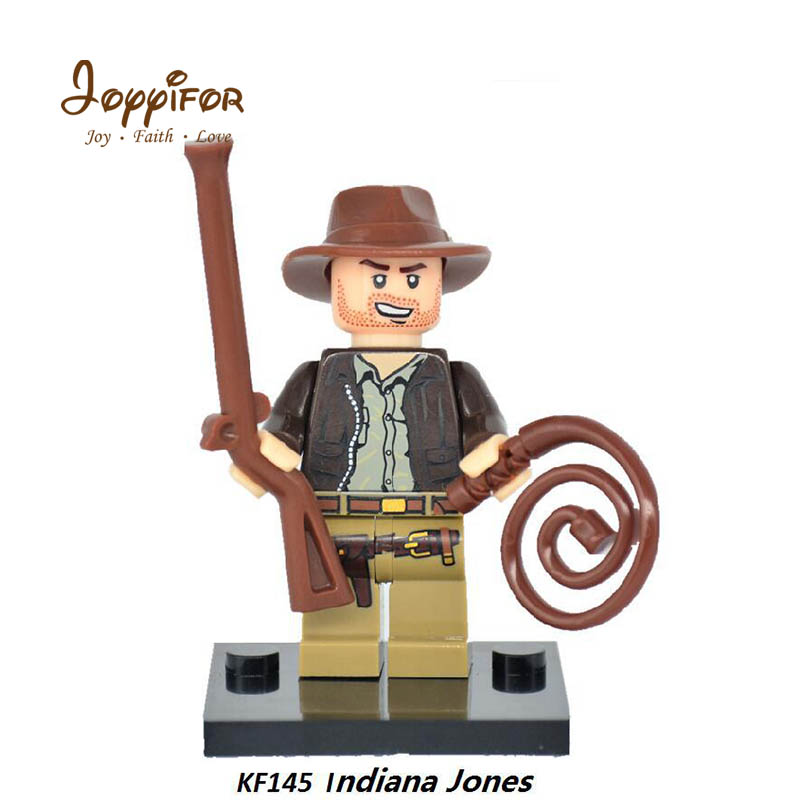 FGHGH Super Heroes West Cowboy Indiana Jones Building Blocks Bricks Action Figure Collection Toys For Children Gifts