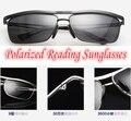 !!! Polarized óculos de leitura!!! grau lente Projeto Conciso sensação Estereoscópica Polarizada óculos de sol + 1.0 + 1.5 + 2.0 + 2.5 a + 4