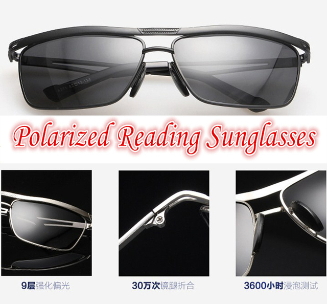 !!!Polarized reading sunglasses!!! grade lens Concise Stereoscopic feeling Design Polarized sunglasses +1.0 +1.5 +2.0 +2.5 to +4