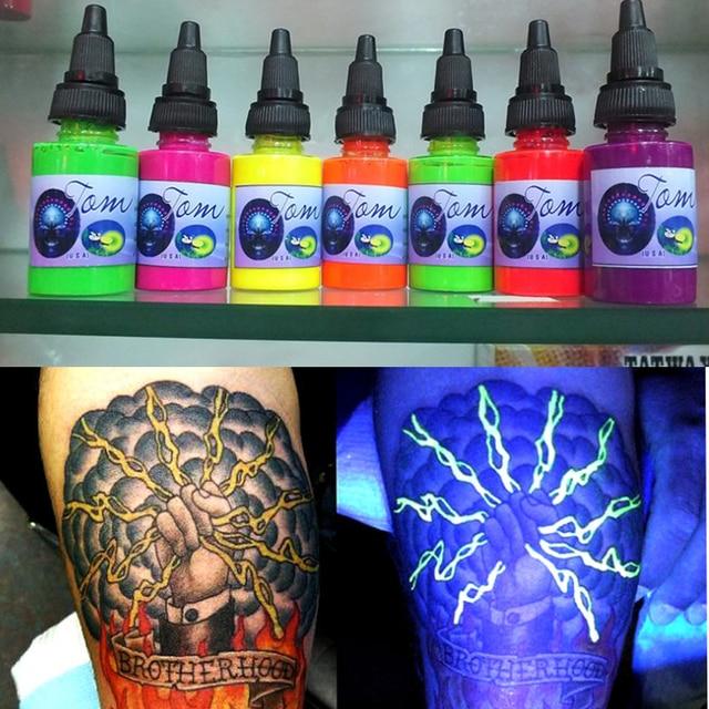 25mL DIY Neon Glow in Dark Fluorescent Luminous Paint Bright Pigment Shiny Multifunction Tattoo Inks Body Beauty Art Tools