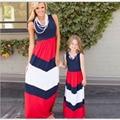 Мать и Дочь Лето Dresse Одежда Рукавов Семья Посмотрите Соответствующие Наряды Хлопок Мама И Дочь Платье vestidosmadre e hija