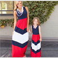 Mother Daughter Summer Dresse Clothes Sleeveless Family Look Matching Outfits Cotton Mom And Daughter Dress vestidosmadre e hija