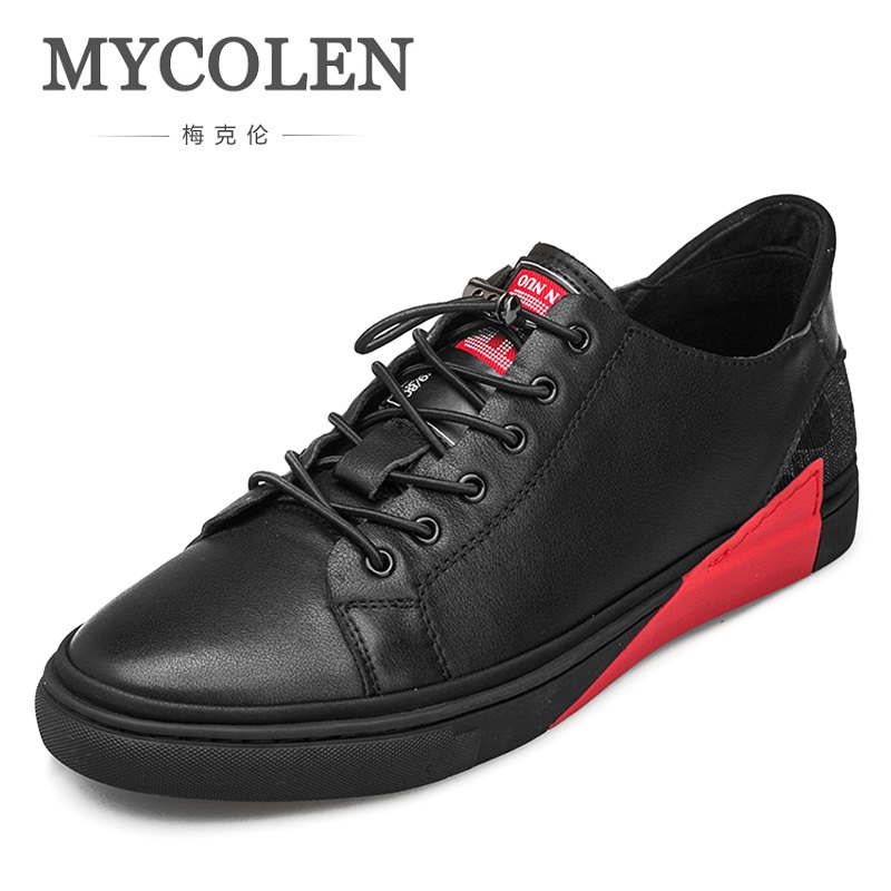 MYCOLEN New 2018 Men Shoes Brand Flat Shoes Men Fashion Male Shoes Summer Footwear Comfortable Men Casual Shoes Chaussure 2017 fashion red black white men new fashion casual flat sneaker shoes leather breathable men lightweight comfortable ee 20