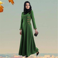 Women's Muslim Robes Malaysia Indonesia National Wind Lace Traditiona Long Dresses