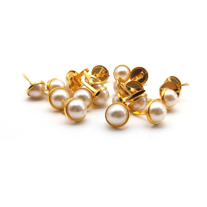 WISHMETYOU 50 шт 12,5 мм золотые жемчужные бусины Diy Фотоальбом рамка Brads Аксессуары Декор украшение для скрапбукинга Chram Brads