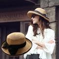 Strawhat del sombrero del sol shading grande a lo largo del rollo cap cap cap playa hasta vestido formal dobladillo cúpula casquillo femenino del verano del envío