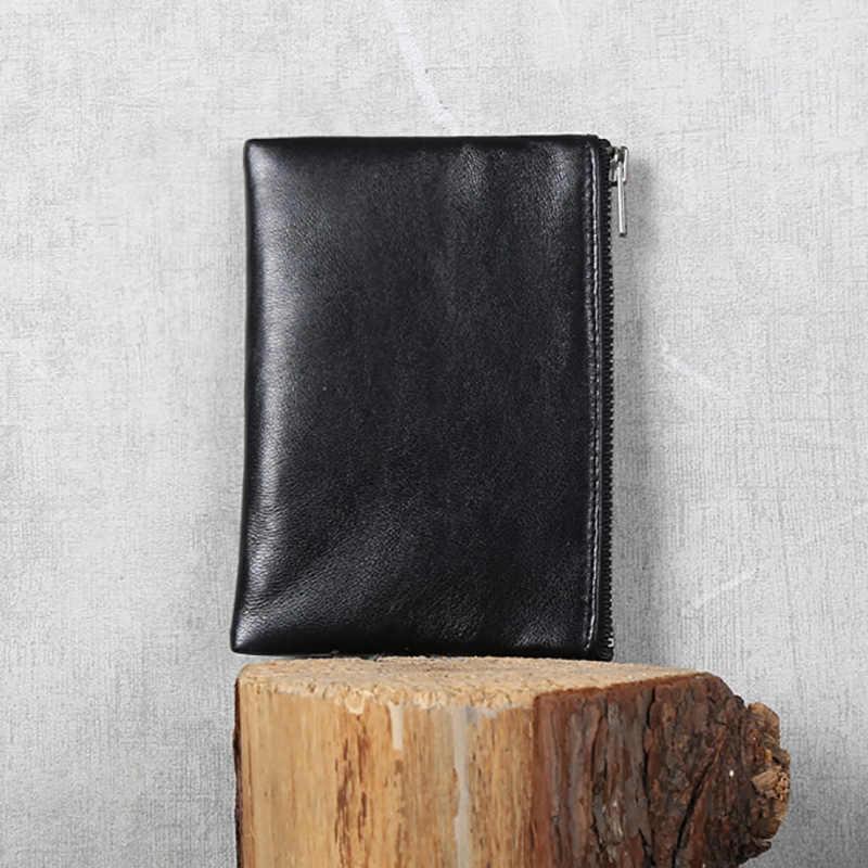 AETOO овечка маленький кошелек, кожаный мини тонкий клатч