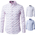 2016 Mens Business Shirts Casual Slim Long Sleeve Dresse Shirts Camisa Masculina Shirts Asian Cotton patchwork 66928