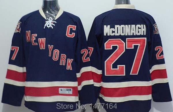 RYAN MCDONAGH NEW YORK RANGERS 85TH ANNIVERSARY #27 NAVY BLUE ALTERNATE