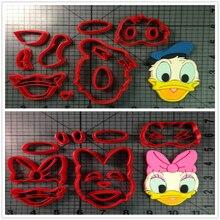 Сделанный на заказ 3D-печатный куттер-резак Мультфильм ТВ-персонаж Дак-фондд Кекс-пресс Топ-печенье Печенье Cutter Set Cake Tools