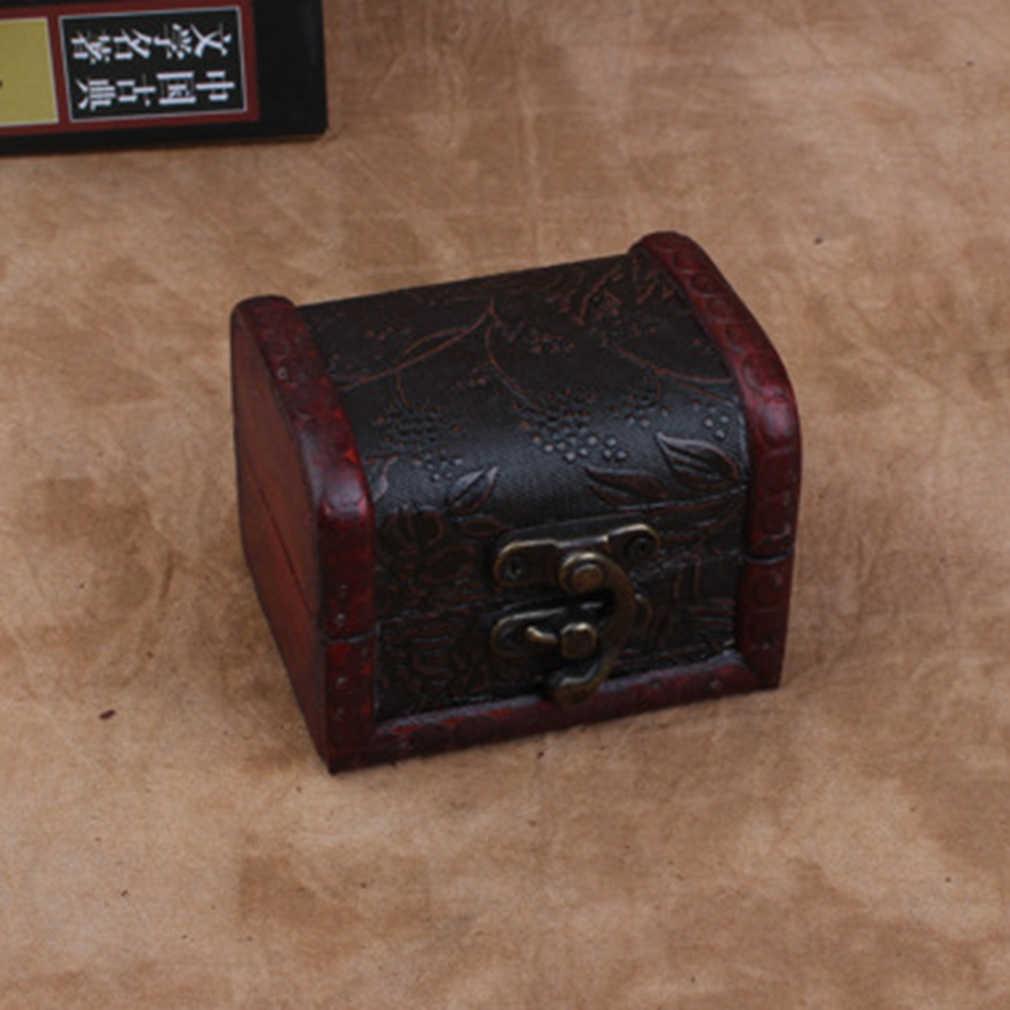 OUTAD Ретро деревянный дисплей часов коробка ювелирные изделия ожерелье футляр для хранения колец Органайзер случайный узор доставлен Cajas Para Relojes